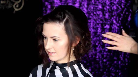 Прическа на короткие волосы от Ларисы Реча
