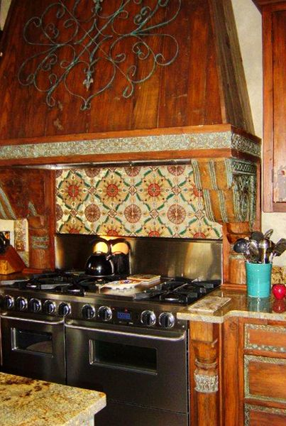 Rustic wood beautiful and spanish on pinterest for Spanish style kitchen backsplash