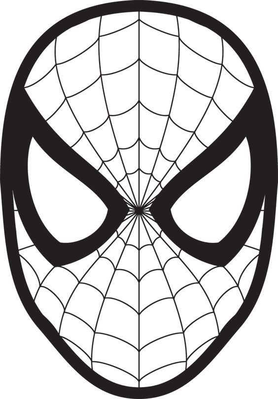 Spiderman face logo spiderman mask clipart 23425wall jpg mehr