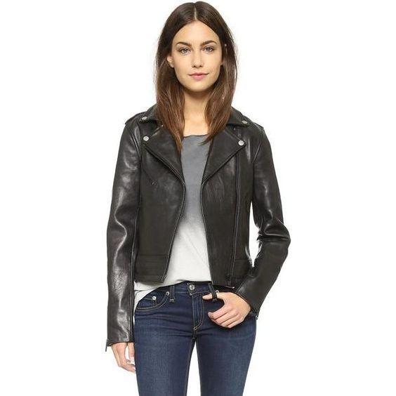 Rag & Bone Chrystie Leather Jacket as seen on Ashley Benson