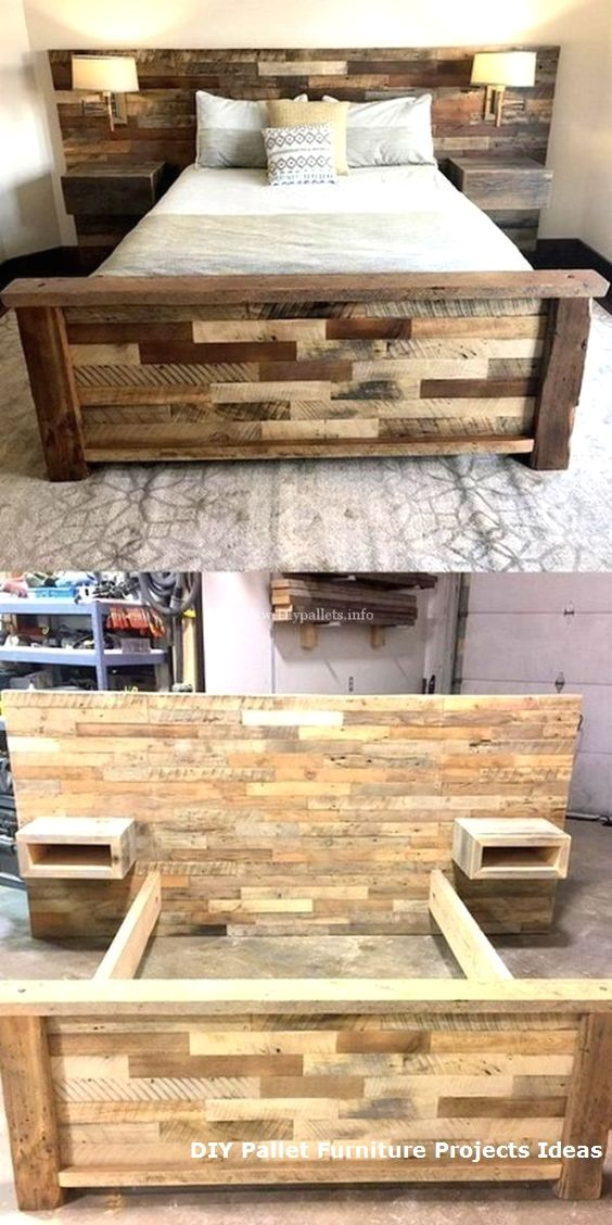 New Diy Pallet Projects And Ideas On A Budget Palletideas Palletfurniture Diypallet Diy Pallet Bed Wooden Pallet Beds Diy Pallet Furniture