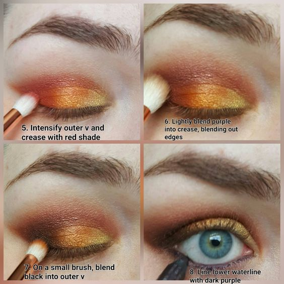 The Decadence Diaries: Blazing Fires: Sleek Sunset Palette Tutorial