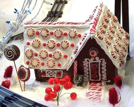 cute little peppermint gingerbread house