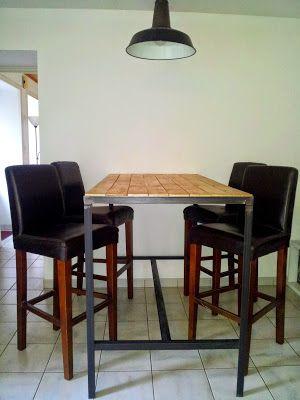 Pinterest the world s catalog of ideas - Table haute industrielle ...