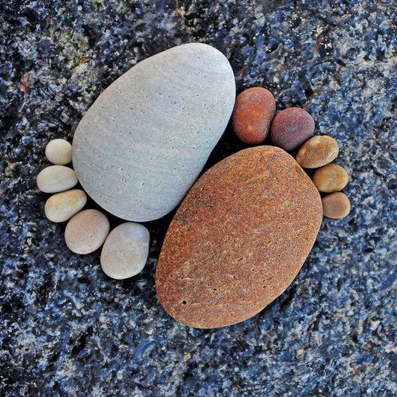 criativas artísticas jardim pedras rochas
