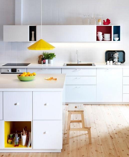 """Einrichtungsbeispiele zur Ikea-Küche """"Metod"""": """"Metod"""" mit farbigen ..."""