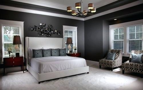 Hinter Bett Wand Dekor Wandgestaltung Streichen Bettkopfteil