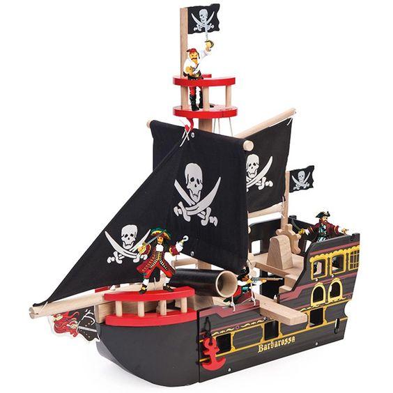 Barco pirata de madera Barbarossa - Le Toy Van