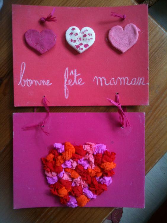 bricolage: un tableau pour la fête des mères - ★Meroute en clis ...