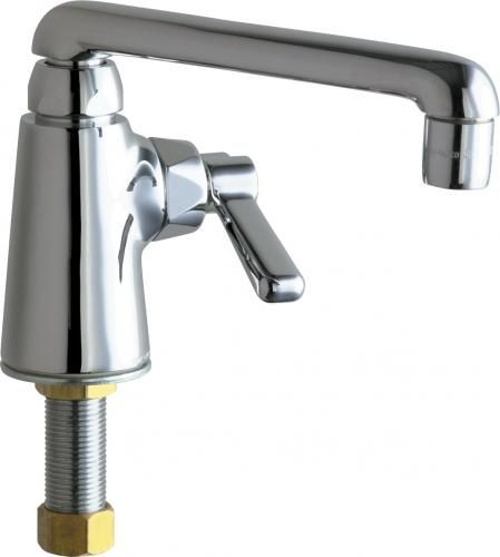 T/&S Brass B-1151 Deck Mount 4-Inch Centers 8-Inch Swing Nozzle with Diverter Hose Spray Valve Work Board Faucet