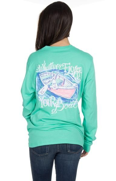 Seafoam - Whatever Floats Your Boat - Long Sleeve Back