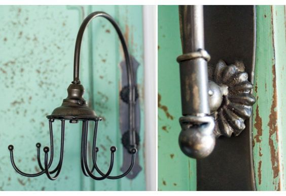 Swivel Hooks - for mud room to hang wet things over the sink