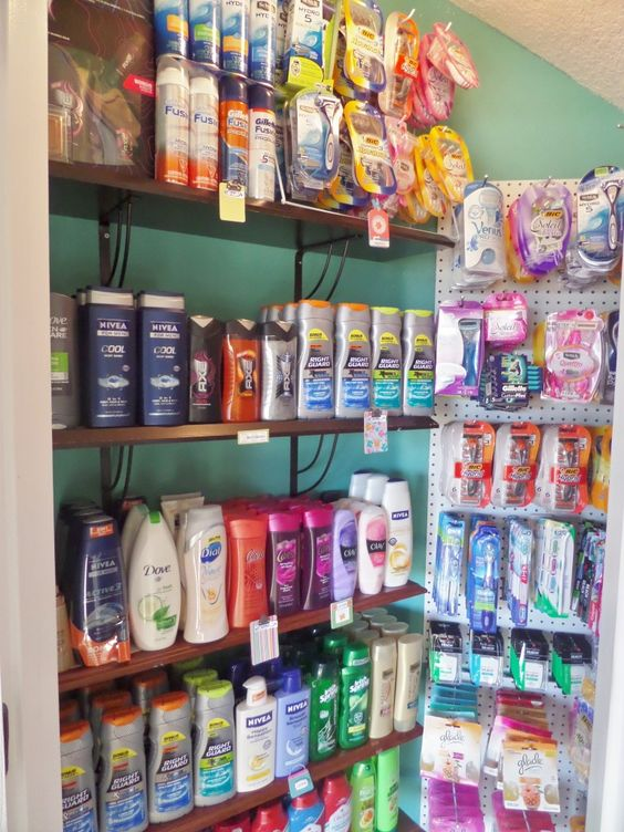 Coupon Stockpile Storage: Organizing my personal care items | Be My Guest With Denise