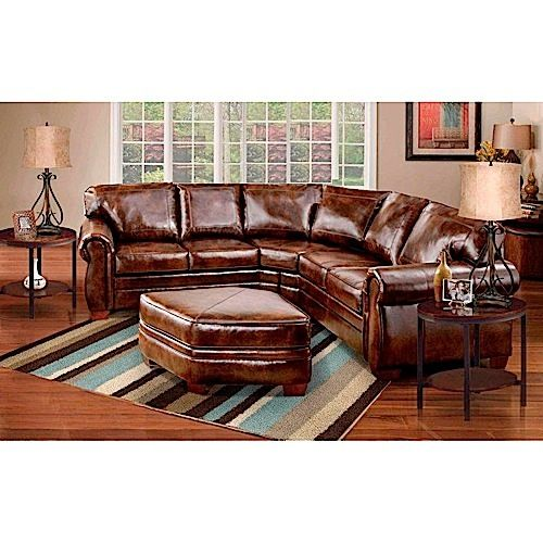 Living rooms leather sectionals and bonded leather on - Pinterest living rooms with sectionals ...