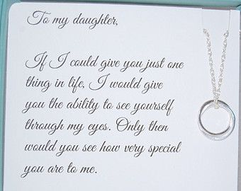 Mother Daughter Necklace Daughter Jewelry Gift For DAUGHTER Mother To Daughter Birthday Gift