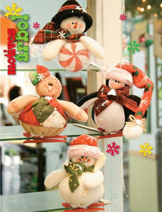Moldes o patrones para elaborar hermosos muñecos navideños ALBUM 37 WhatSap +584124278063