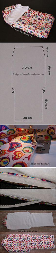 Шьем теплый конверт на выписку для новорожденных.: