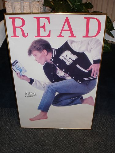 "David Bowie ""Read"" Poster"