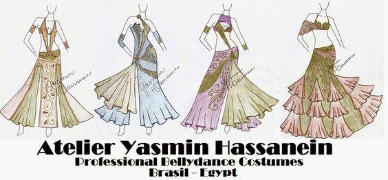 Atelier Yasmin Hassanein - Trajes para Dança do Ventre - Bellydance Costumes: New Designs by Yasmin Hassanein / Professional Bel...