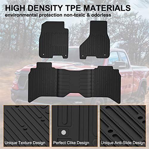 Kiwi Master Floor Mats Compatible For Dodge Ram Floor Mats Floor Liners Dodge Ram