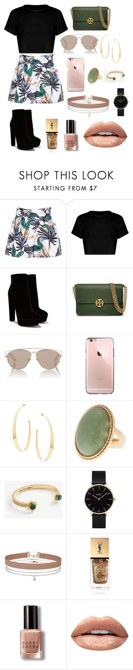 """Untitled #4"" by soninha97 on Polyvore featuring Reiss, Tory Burch, Christian Dior, Lana, Ann Taylor, CLUSE, Miss Selfridge, Yves Saint Laurent, Bobbi Brown Cosmetics and Huda Beauty"