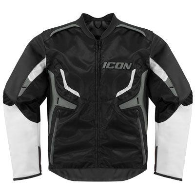Icon Compound Motorcycle Jacket Large (size 42) Grey
