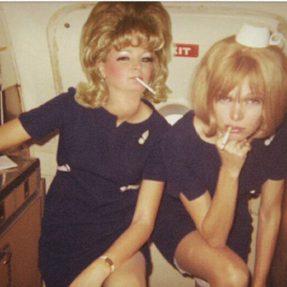Swingin' Stewardesses...goddesses of the sky!!  This IS a distant memory!!