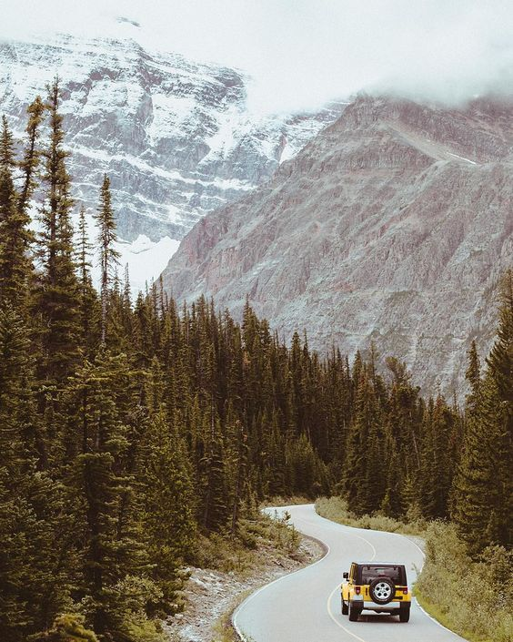 Someone's bought a jeep endless pines and windy roads in the Rockies. by mattcherub