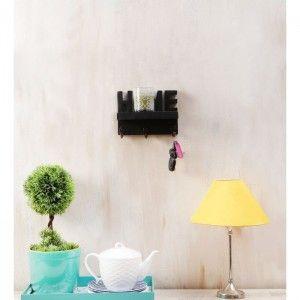 Onlineshoppee Wooden Handicraft Home Wall Shelf/Cloth Hanger With 3 Hooks.
