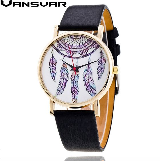 $5.44 (Buy here: http://appdeal.ru/5vs0 ) Vansvar 2016 New Fashion Dreamcatcher Watch Casual Women Dress Watches Ladies Quarzt Watches Relogio Feminino V09 for just $5.44