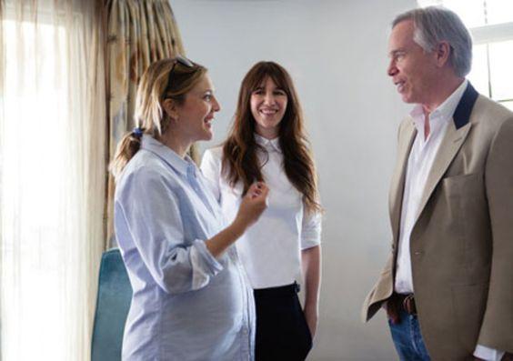 Drew Barrymore, Charlotte Gainsbourg et Tommy Hilfiger