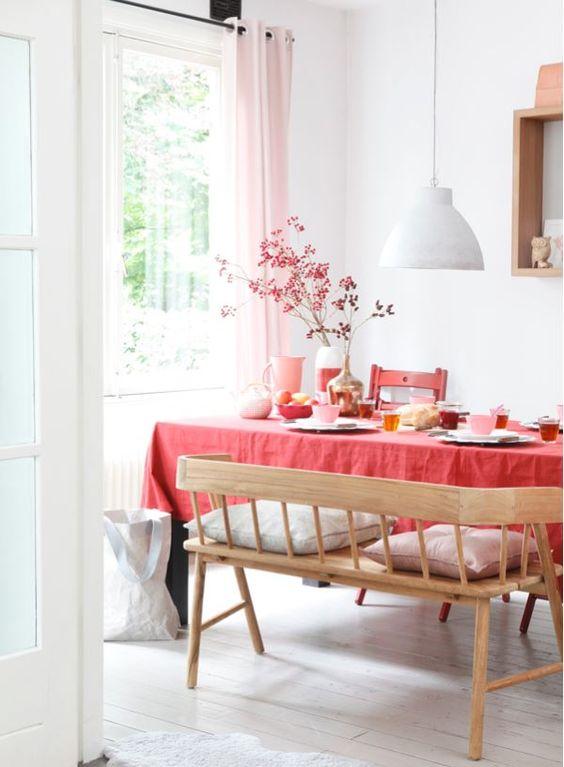 Color rojo en la decoración