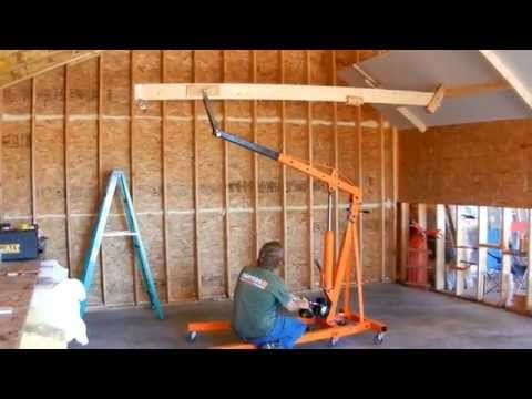 1 Low Cost Diy Drywall Lift Youtube With Images Drywall Lift Fibreglass Roof Building A House