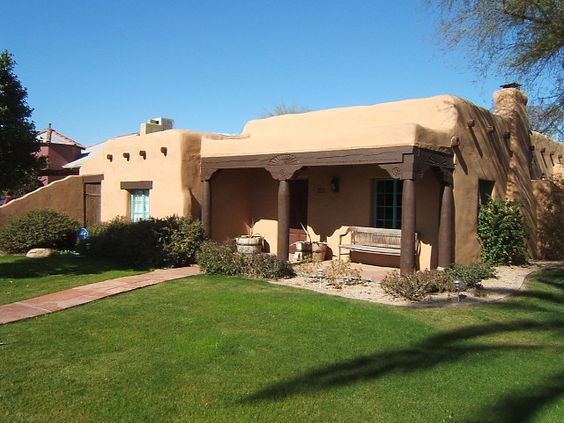 This Is A Traditional Adobe House In Phoenix Adobe Is A