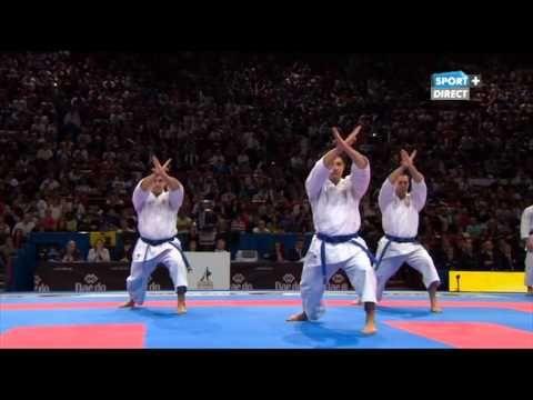 Karate world championship 2012 - Kata team male - Japan Vs Italy