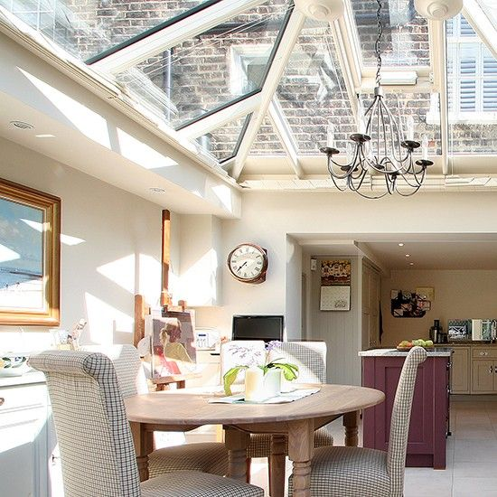 This Country Style Orangery Kitchen Is Lit By A Sparkling Roof Lantern Extensions RoofRooms