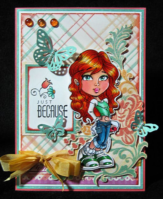 Anniebee's Craft Room: Another Kenny K card for Top Tip Tuesday