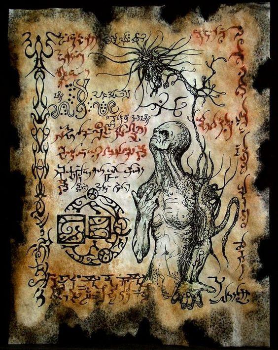 El Necronomicón,un libro salido de los infiernos Faed14df07e979fed00663c1fb96c77e