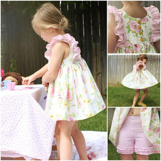 Clara Dress & Top + Shorties Ruffles, Knits and Ruffle top