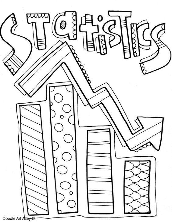 Statistics Binder Coloring Page Classroom Doodles Caratulas