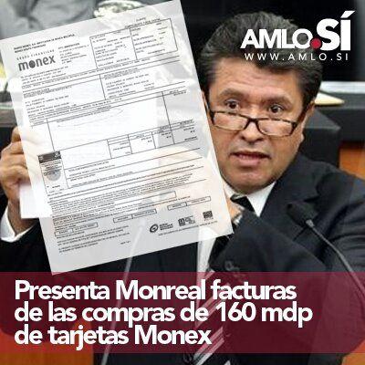 Monreal presenta facturas por 160 millones en MONEX #Fraude2012