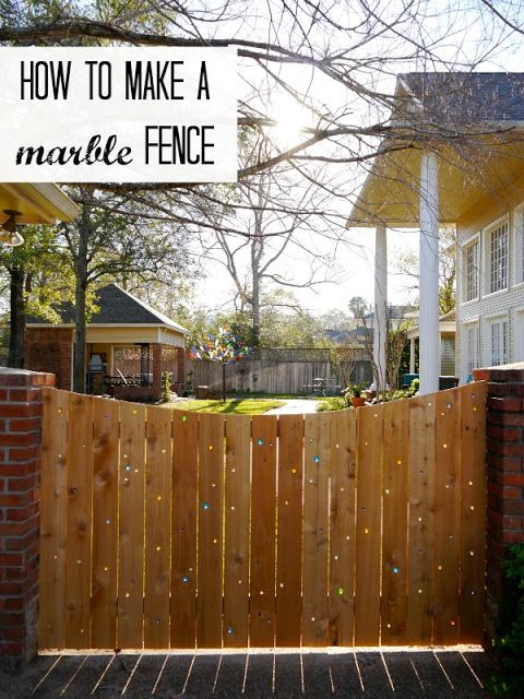 DIY Marble Fence Project,  5 DIY Fence Ideas For Backyards