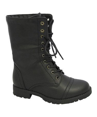 Another great find on #zulily! Black Mary Boot by Yokids #zulilyfinds