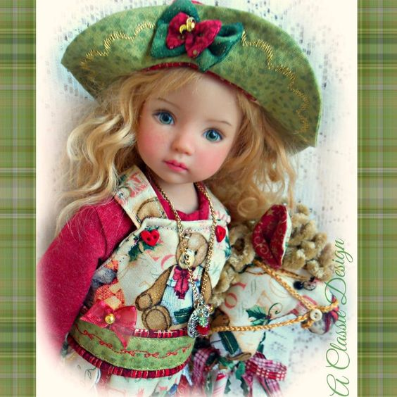 """Santa's Toy Shoppe Outfit 4Diana Effner Little Darling Doll 13"""" A Classie Design"""