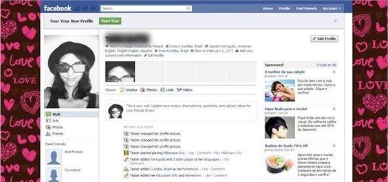 cor do facebook