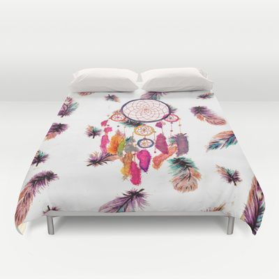 Feather bed cover - Covers Society6 Duvet Covers Feather Pattern Feathers Pattern