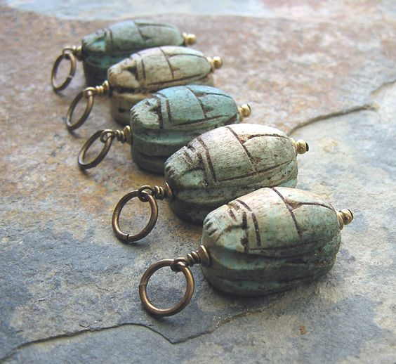 A Simple Scarab Pendant for Good Luck