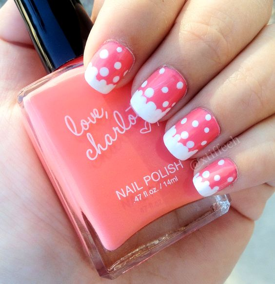 Pink + polka dots = 1 fab Mani-Monday (thanks to Instagram BFF, @Tiffany Nguyen)!