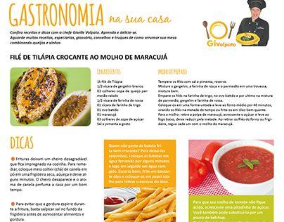 """Check out new work on my @Behance portfolio: """"Diagramação coluna de gastronomia""""…"""