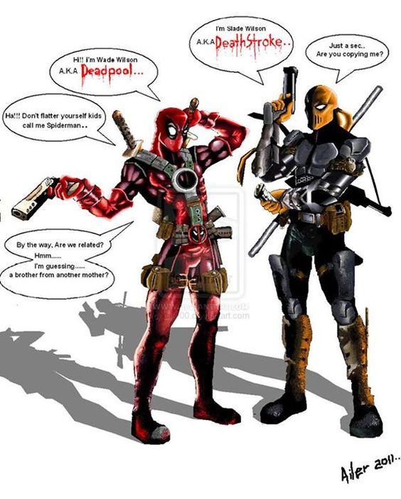 deathstroke and deadpool meet